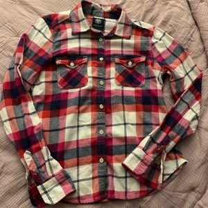 Plaid American eagle long sleeve button up